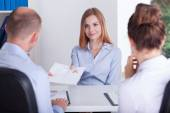 Begining of the job interview — Stock Photo