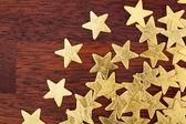 Christmas stars on a table — Zdjęcie stockowe