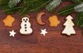 Ginger cookies during christmas time — Stock Photo