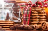Primo piano dei biscotti allo zenzero — Foto Stock
