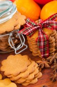 Gingerbread decoration on a christmas table — Stock Photo