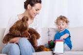 Mother having fun with baby — Stock Photo