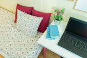 Modern room of student girl — Stock Photo