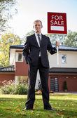 Real estate broker — Stock Photo
