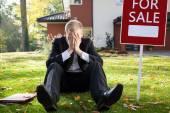 Resigned real estate broker — Stock Photo