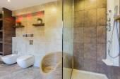 Interior of modern bathroom — 图库照片