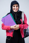 Muslim student before classes — Stock fotografie