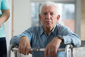 Worried disabled senior man — Foto de Stock