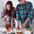 Making pizza at home — Stock Photo #59161783