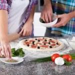 Homemade pizza before baking — Stock Photo #59162971