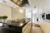 Countertop in designer kitchen — Stock Photo