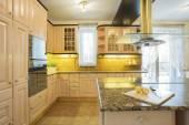 Beige furniture in  luxury kitchen — Stock Photo