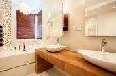 バスルームに 2 つのシンク — ストック写真