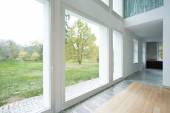 Large windows in modern house — Foto de Stock