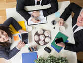 Kindly atmosphere during business meeting — Stock Photo