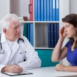 Woman at the doctor's — Stock Photo #60194059
