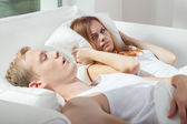 Snore problem — Stock Photo