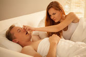 Way to stop snoring — Stock Photo