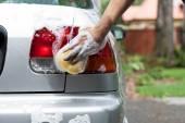 Polishing rear lights — Zdjęcie stockowe