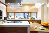 Luxury kitchen with modern equipment — Stock Photo