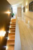 Illuminated stairs in luxury residence — Foto de Stock
