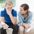 Couple having problems with paying bills — Stock Photo #61597089