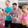 Working out with dumbbells — Stock Photo #62112953
