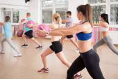 Exercise with ball — Stock Photo