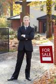 Real estate broker — Stock Photo