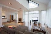 Spacious luxury living room — Stok fotoğraf