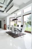 Dining area in designed house — Stock Photo
