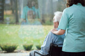 Cheering-up the patient — Stock Photo