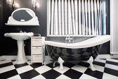 Black and white tiles — Stock Photo