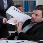 Overworked employee refusing work — Stock Photo #63219355