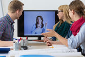 Business people having online meeting — Stock Photo