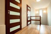 Wooden hallway — Stock Photo