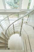Spiral marble stairs in apartment — Stock Photo