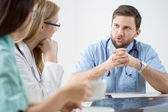 Medical meeting in hospital — Stock Photo