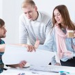 Architectural team working together — Stock Photo #64875763