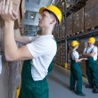 Man working in warehouse — Stock Photo #65400955