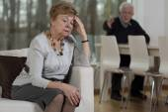 Senior couple having marital problems — Stock Photo