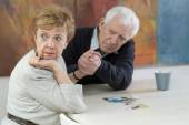 Marital problems in old age — Stock Photo