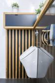 Toilet interior with urinar — Stock Photo