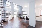 Spacious contemporary living room — Stock Photo