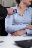 Inappropriate behavior at work — Stock Photo