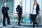 Daily life outside the business centre — Stock Photo