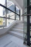 Polished stairs in office building — Stock Photo