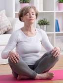 Yoga meditation training — Stock Photo