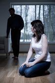 Víctima de violencia doméstica — Foto de Stock