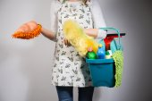 Housewife with her equipment  — Stock Photo